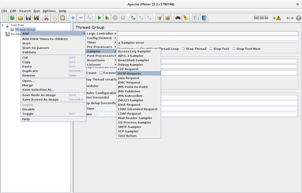 Stress testing secured application with JMeter